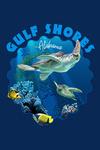 Gulf Shores, Alabama - Sea Turtle Swimming - Contour - Lantern Press Artwork