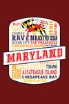 Maryland - Typography - Contour - Lantern Press Artwork