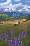 Elk & Flowers - Lantern Press Artwork