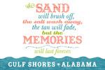 Gulf Shores, Alabama - Beach Memories Last Forever - Lantern Press Artwork