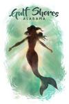 Gulf Shores, Alabama - Mermaid Underwater - Lantern Press Artwork