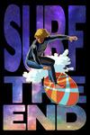 Surf the End - Milky Way & Surfer - Lantern Press Artwork