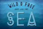 Wild & Free Just Like the Sea - Lantern Press Artwork