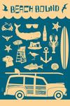 Beach Bound - Coastal Icons - Lantern Press Artwork