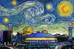 New Orleans, Louisiana - Starry Night City Series - Lantern Press Artwork