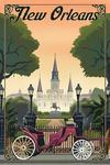 New Orleans, Louisiana - Litho - Lantern Press Artwork
