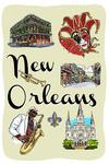 New Orleans, Louisiana - Landmarks & Icons - Lantern Press Artwork