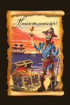 Pirate & Plunder - Scroll - Contour - Lantern Press Artwork
