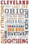 Cleveland, Ohio - Typography - Lantern Press Artwork
