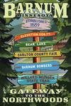 Barnum, Minnesota - Destination Signpost - Lantern Press Artwork