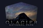 Glacier National Park, Montana - Bear Hat Mountain & Milky Way - Contour - Photography