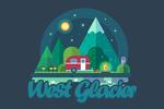 West Glacier, Montana - Camper in Forest - Vector - Lantern Press Artwork