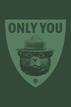 Smokey Bear - Only You - Duotone - Contour - Lantern Press Artwork