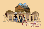 Nevada - Cowgirls - Contour - Lantern Press Artwork