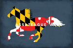 Assateague, Maryland - Horse Flag - Contour - Lantern Press Artwork