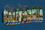 Big Sur, California - Greetings - Contour - Vintage Postcard