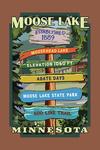 Moose Lake, Minnesota - Destination Signpost - Contour - Lantern Press Artwork