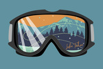 Lake Tahoe, Nevada - Snow Goggles - Contour - Lantern Press Artwork