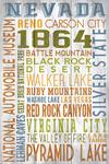 Lake Tahoe, Nevada - Rustic Typography - Lantern Press Artwork