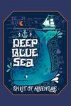 Deep Blue Sea - Spirit of Adventure - Nautical Art - Contour - Lantern Press Artwork