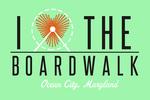 Ocean City, Maryland - I Heart the Boardwalk - Simply Said - Lantern Press Artwork