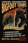 Cougar, Washington - Bigfoot Tours  - Lone Fir Resort- Lantern Press Artwork