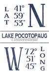 Lake Pocotopaug, Connecticut - Latitude & Longitude - Lantern Press Artwork