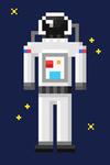 Pixel Astronaut - 8 Bit - Lantern Press Artwork