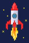Pixel Rocket - 8 Bit - Lantern Press Artwork