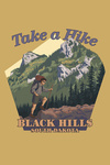 Black Hills, South Dakota - Take a Hike - Contour - Lantern Press Artwork