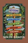 Keystone, South Dakota - Destination Signpost - Contour - Lantern Press Artwork