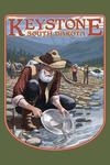 Keystone, South Dakota - Gold Panner - Contour - Lantern Press Artwork