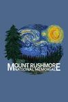 Mount Rushmore National Memorial, South Dakota - Starry Night - Contour - Lantern Press Artwork