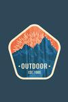 Outdoor - Mountains - Est 1985 - Vintage Vector - Contour - Lantern Press Artwork