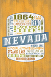 Lake Tahoe, Nevada - Rustic Typography - Contour - Lantern Press Artwork