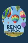 Reno, Nevada - Hot Air Balloons - Contour - Lantern Press Artwork