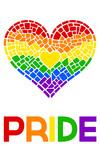 Gay Pride - Mosaic Heart - Pride Colours - Lantern Press Artwork