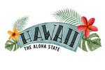 Hawaii - The Aloha State - Name Badge - Lantern Press Artwork