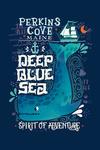 Perkins Cove, Maine - Deep Blue Sea - Spirit of Adventure - Nautical Art - Contour - Lantern Press Artwork