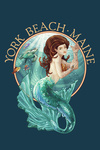York Beach, Maine - Mermaid - Contour - Lantern Press Artwork