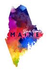 York Beach, Maine - State Abstract - Contour - Lantern Press Artwork