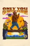Smokey Bear on Log Bridge - Only You - Mid-Century Inspired - Contour - Lantern Press Artwork