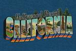 Hollywood Beach, California - Greetings - Contour - Vintage Postcard