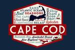 Cape Cod, Massachusetts - Dennis Port - Typography & Icons - Contour - Lantern Press Artwork