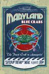 Annapolis, Maryland - Blue Crabs - Vintage Sign - Contour - Lantern Press Artwork