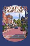 Annapolis, Maryland - Street View - Contour - Lantern Press Artwork
