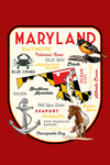 Maryland - Typography & Icons - Contour - Lantern Press Artwork
