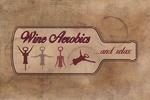 Wine Aerobics - Corkscrew - Contour - Lantern Press Artwork