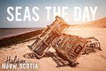 Halifax, Nova Scotia - Seas the Day - Lobster Traps on Beach - Lantern Press Photography