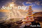 Puerto Rico - Seas the Day - Rocks Balancing on Beach - Lantern Press Photography